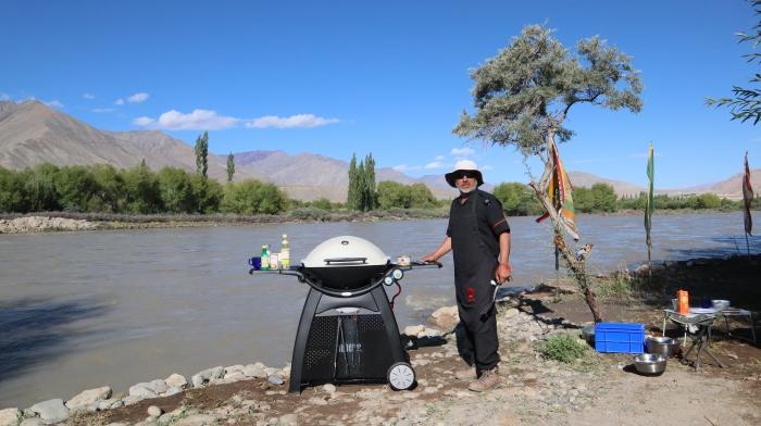 "img src=""barbecue food in leh ladakh riverside camping.jpeg"" alt=""weberbarbecue grill q3200riverside caravan family holidays campervan camping vacationunique experience leh ladakh india"">"